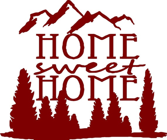 Vinyl Wall Decal  -  Home Sweet Home