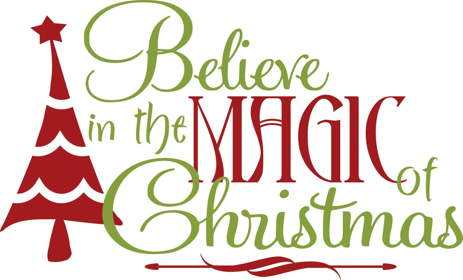 Items similar to vinyl wall decal christmas believe in for Christmas wall mural plastic