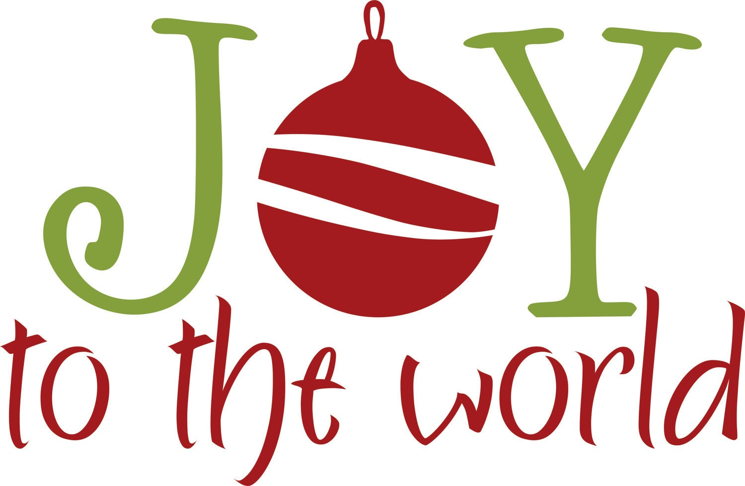 Vinyl Wall Decal Christmas JOY to the world ...