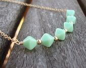Green Cube Necklace
