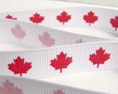 Oh Canada grosgrain ribbon