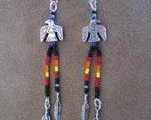 Sunset Thunderbird earrings - Hand Beaded
