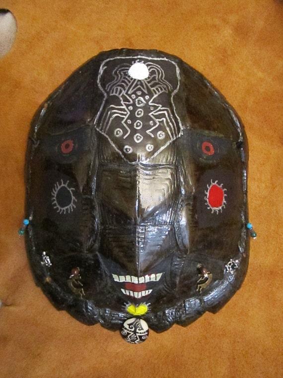 Tribal ceremony mask turtle shell Pii nakettsu'ah neme