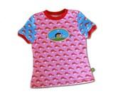Children Spring Farbenmix Girls Shirt sz 4 Mushroom Hedgehog Jersey Tee Cotton Knit Blue Pink Euro Style Boutique