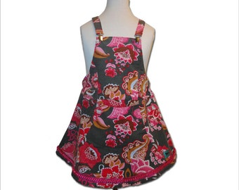 Girls Dress Jumper Cord 5Y Farbenmix Euro Style Boutique Fall Autumn winter Pink Flower