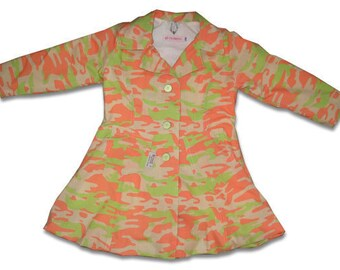 SALE 50% OFF Bubble Jacket Coat Camouflage Summer Spring Balloon sz 6T EU 116 euro style
