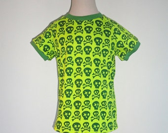 Children Spring Boys Shirt sz 5Yrs Farbenmix Skull Jersey Tee Cotton Knit Green Euro Style Boutique