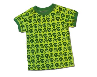 SALE 50% off Children Spring Boys Shirt sz 5Yrs Farbenmix Skull Jersey Tee Cotton Knit Green Euro Style Boutique