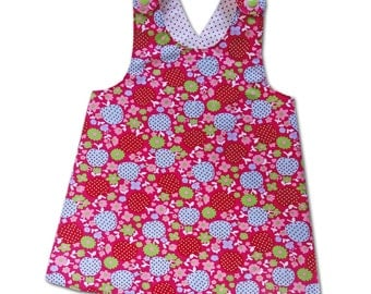 Pinafore Dress Girls Pinafore Top sz ca 10-16 mos Euro Children's clothing Pink