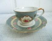 Vintage Occupied Japan Ucago Demitasse Teacup and Saucer