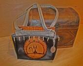 Vintage Mini Handbag, if you want, you can use it like messenger bag - free shipping