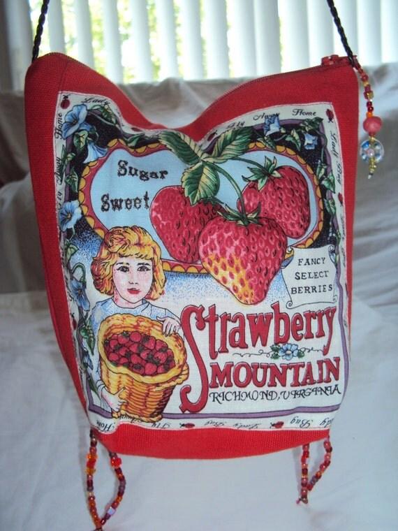 SALE Fruit Box Label Print Pub Bag