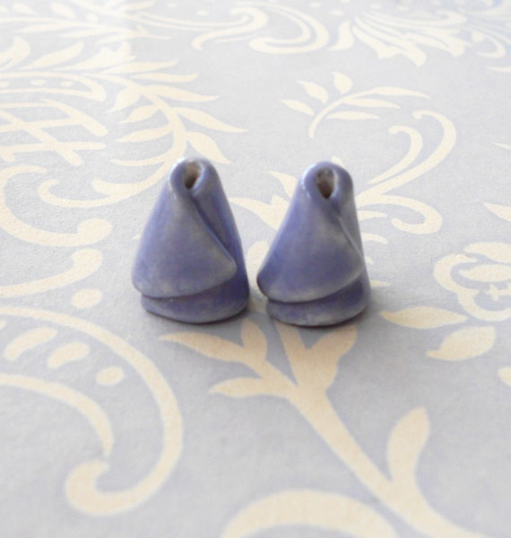 RESERVED FOR JEWELSBYKAT....... Handmade Ceramic Beadcones in Lilac