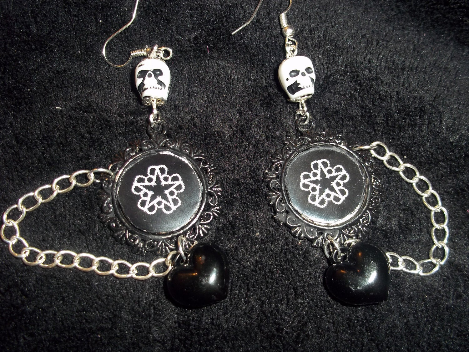 black veil brides earrings by hellcatboutique on etsy