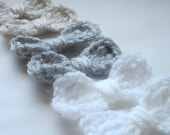 Crochet Applique Bows Neutral Colors Set of 6