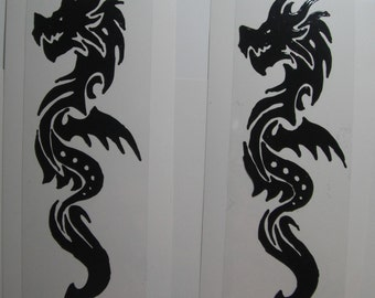 Stain Glass Year of the Dragon  Cling Art Made to order