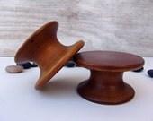 Round Wood Display pedestals Art Candles