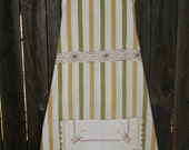 """Handmade """"Citrus"""" Apron Made from Vintage Materials"""