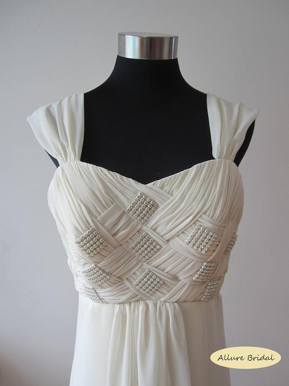 Custom Made Cross Straps Pattern Chiffon Dress