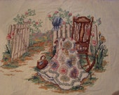 """Completed Cross Stitch Sampler """"Spring Remembered Part II"""" by Paula Vaughan"""