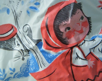 Little Red Riding Hood Vintage Plastic Bib