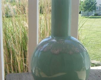 Mid Century Drip Vase Mint Green