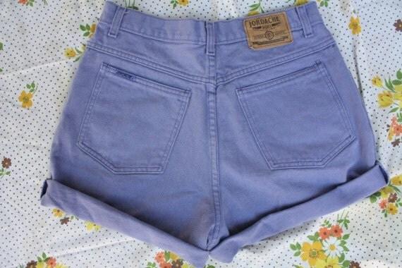 Vintage 80s Jordache Purple High Waisted Shorts M