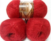 Alizarin crimson,  wool, mohair, acrylic,  metallic,  yarn , 1 Skeins, Each skein: 100 gr