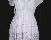 RESERVED Light pink 1950's square dancing dress. Plus size