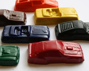 Car Crayons - Set of 8 - Great for a Car or Hot Wheels Party