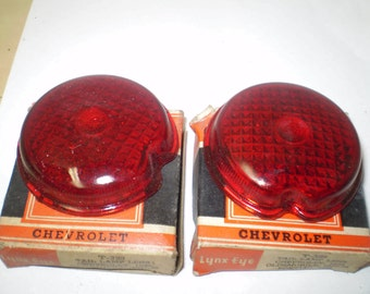 1939 CHEVY tail light lenses in box 'pair'