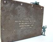 Box - Vintage Metal Type A Military Box  - Home Decor - Green