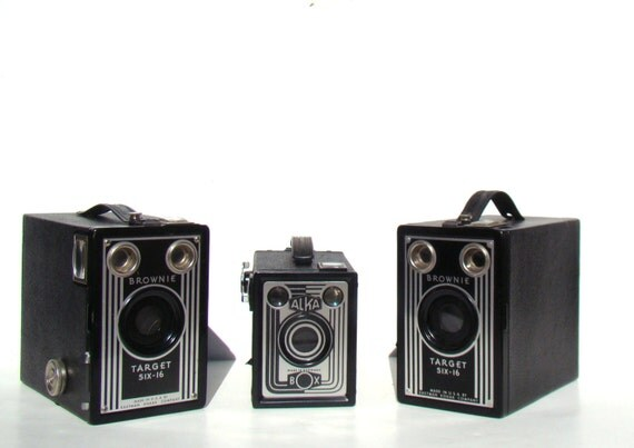Home Decor - Vintage Box Cameras - INSTANT COLLECTION