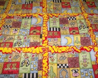 Country and Western Rag Quilt