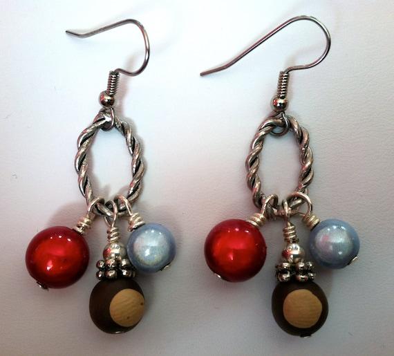 Ohio State Buckeye Earrings