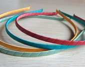 12 pcs satin covered metal headband 5mm--many colors available