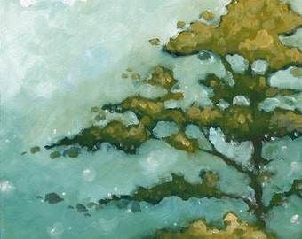 "Landscape Abstract ""Staggered Branches"" 11"" x 14"""