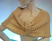 Chunky Cream Merino Wrap - Chunky Cream Merino Stole - Chunky Cream Merino Ponchetta - Ready to Ship - Women Fashion - Teens - Teen Girls