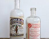 Vintage Medical Bottles with labels
