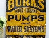 Vintage metal sign