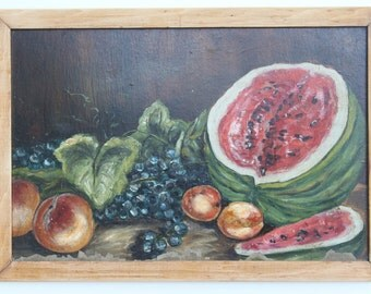 """Antique Painting  """"Fresh Fruits"""""""