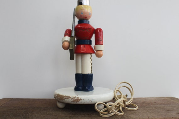 Vintage Wooden Nursery Lamp