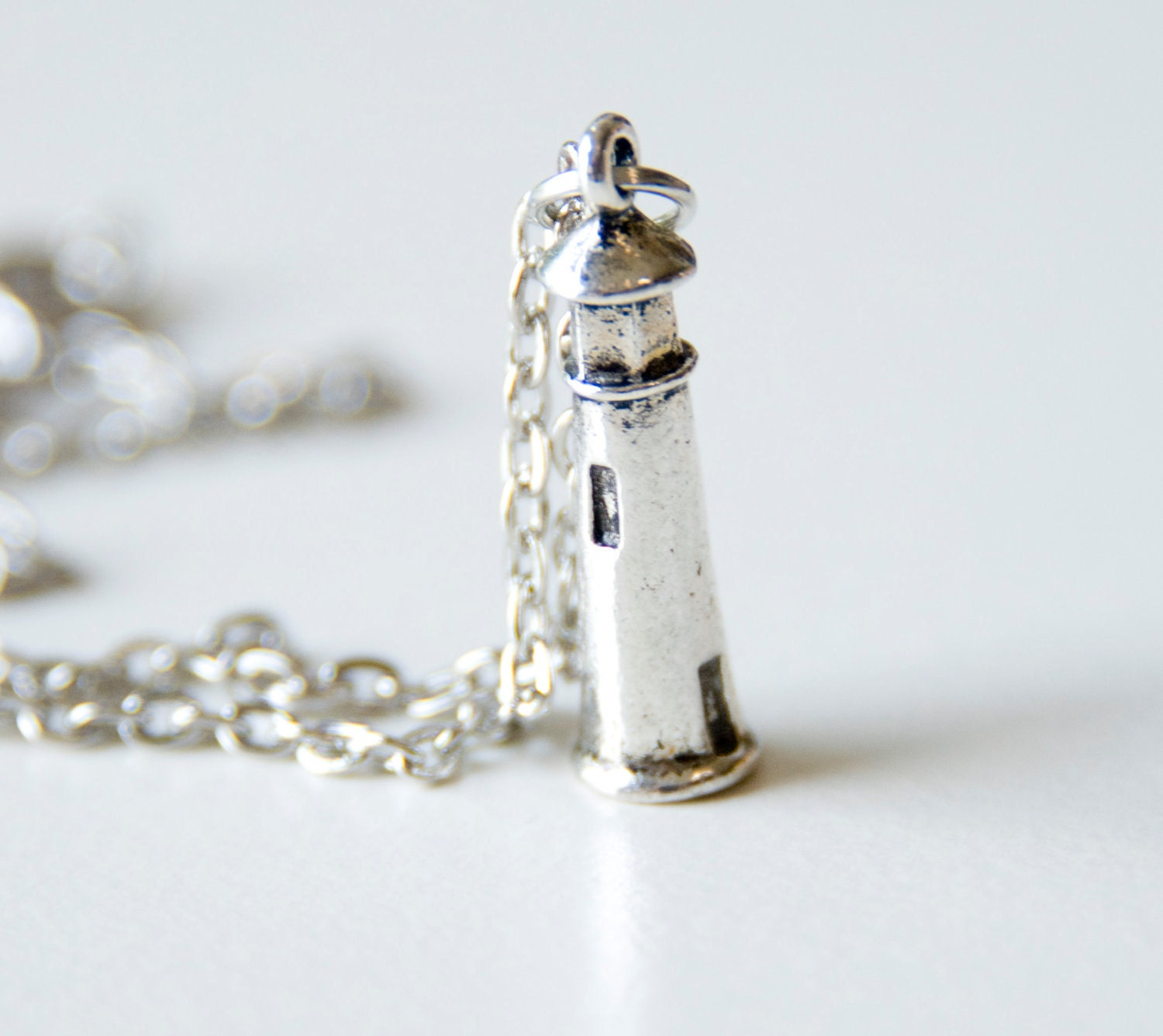 lighthouse necklace silver nautical