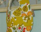 Baby Girl Modern Patchwork - Piece Bib - absorbent w/ minky fleece backing - dribble/teething/drooling - Jubilee