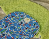 the PEANUT POD baby swaddle - a wrap blanket swaddler for newborn to 3 months - Super Soft & Cozy - Ready To Ship - Road Map