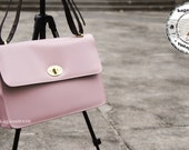 Cotton Candy Faux Leather Turn Lock Body Bag