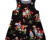 Gnome pinafore dress