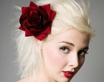 Now, Voyager Large Velvet Rose Hair Clip