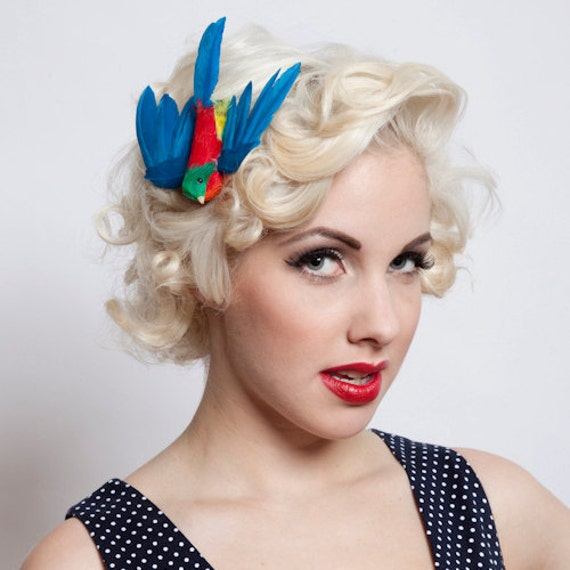 Now, Voyager Flying Bird Hair Clip-Vibrant Blue Mix