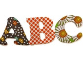 Magnetic Alphabet Set - Letters ABC to XYZ - Retro Style Brown, Orange & Green - Complete Alphabet by Anatolia Magnets